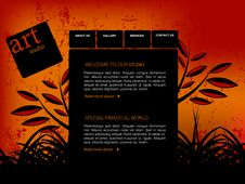 Free Website Template Stock Photo - 15981510
