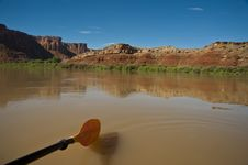 Free Paddle In A Desert River Royalty Free Stock Photography - 15982157