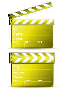 Golden Clapboard Stock Image