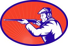 Free Hunter Aiming Shotgun Rifle Stock Photo - 15983060