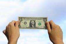 Free The American One Dollar Royalty Free Stock Photography - 15983327