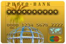 Free Gold Credit Card Royalty Free Stock Images - 15983409