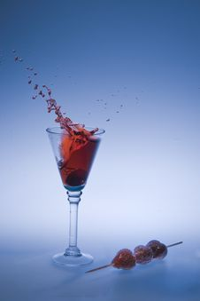 Free Strawberry Splash Stock Photography - 15984042