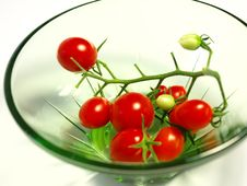 Free Cluster Of Cherry Tomatoes In A Small Plate Royalty Free Stock Image - 15984366