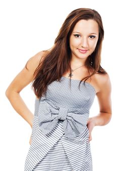 Young Elegant Girl Stock Images
