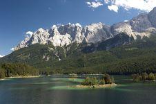 Free Lake At Alps Mountains Stock Photo - 15984620
