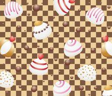 Free Seamless White Chocolate Candies Royalty Free Stock Image - 15985466