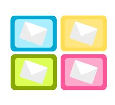 Colorful Mail Icons Royalty Free Stock Images