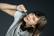Free Teenager Eating Sweets Royalty Free Stock Images - 15986889