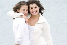 Free Two Young Happy Girls On Nature Royalty Free Stock Photo - 15986905