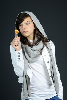 Free Teenager Analyzing Sweets Stock Image - 15986941