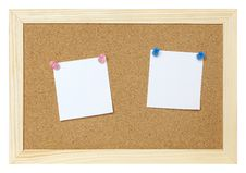 Free Blank Papers On Cork Board Royalty Free Stock Image - 15987146