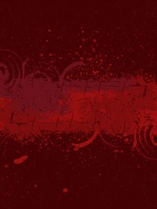 Free Inky Dribble Strip Stock Image - 15987381
