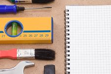 Free Tools And Pad Stock Photos - 15987403