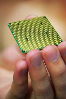 Processor In Hand Royalty Free Stock Photos