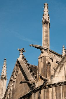 Free Exterior Detail Of St. Severin Church In Paris Stock Images - 15988654