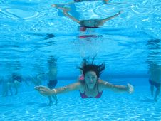 Free Swimming Underwater Photo Stock Image - 15988951