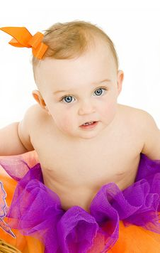 Free Baby Girl Portrait Stock Image - 15989041