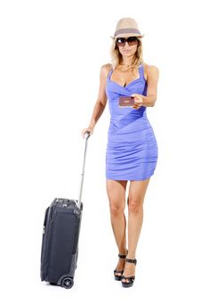 Free Travelling Woman Stock Image - 15989211