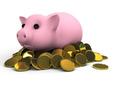 Free Piggy Bank Royalty Free Stock Photography - 15989287