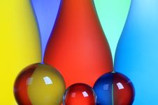 Skittles And Spheres Royalty Free Stock Images