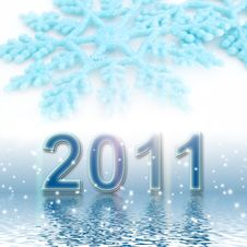Free 2011 On A Blue Background Royalty Free Stock Photos - 15989948