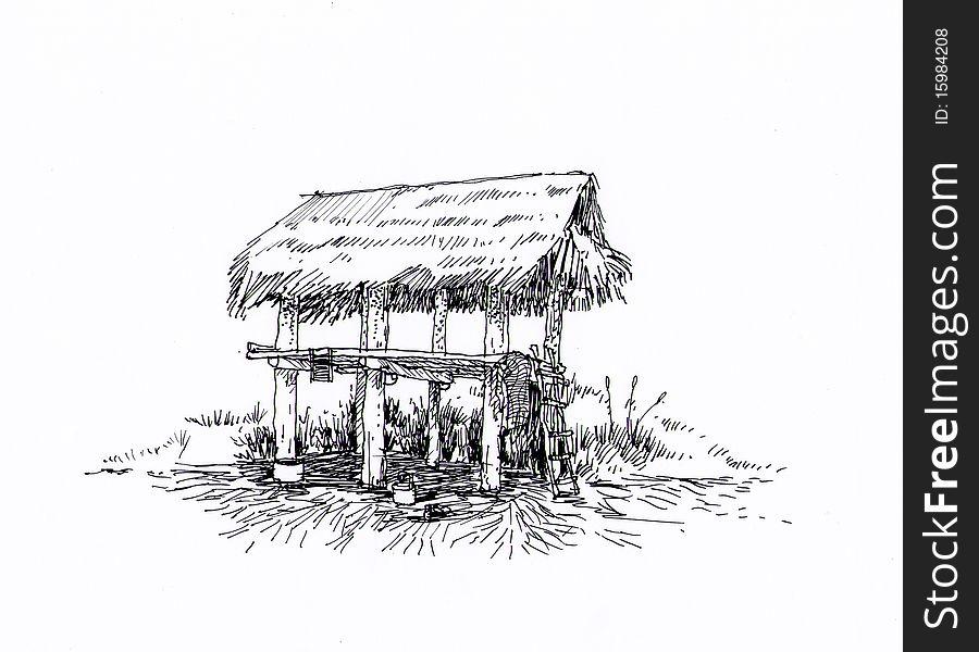 Thai farmhouse