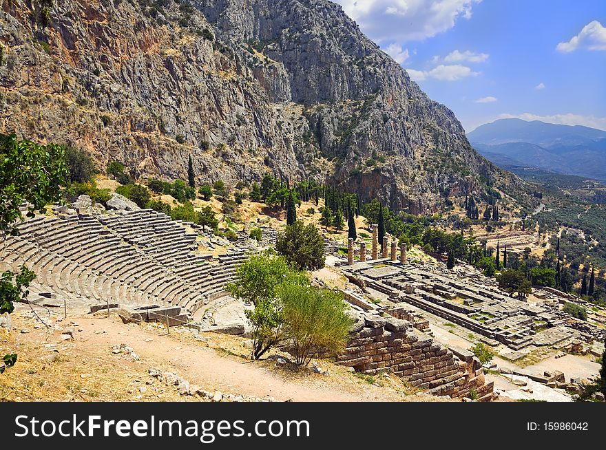 Ruins Of The Ancient City Delphi, Greece - Free Stock Images