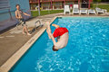 Free Child Has Fun In The Pool Royalty Free Stock Photography - 15993077