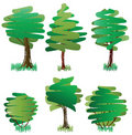 Free Six Green Deciduous Trees Royalty Free Stock Photography - 15997527