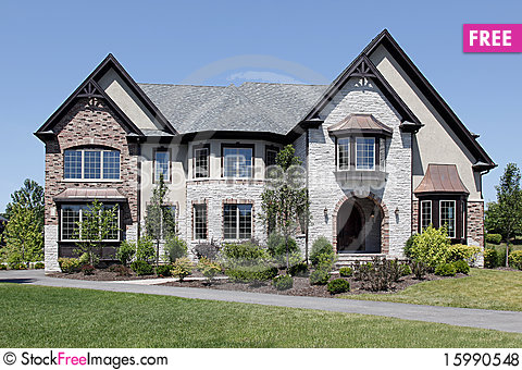Luxury stone and brick home free stock photos images for Free luxury home images