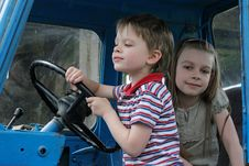 Free At The Wheel. Stock Images - 15990044
