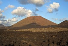 Free Vulcanic Landscape Under The Extincted Vulcano Royalty Free Stock Images - 15990189