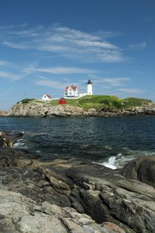 Free Cape Neddick Nubble Royalty Free Stock Photo - 15990325
