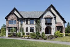 Free Luxury Stone And Brick Home Royalty Free Stock Photos - 15990548