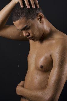 Free Men Enjoying The Shower Stock Photos - 15992303