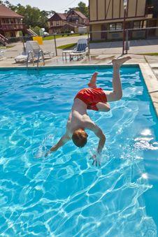 Free Child Has Fun In The Pool Stock Photos - 15992973