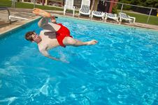 Free Child Has Fun In The Pool Stock Photo - 15993050