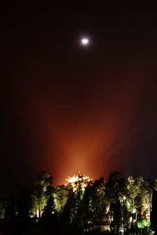 Free Night View Of Lion Hill From Lijiang Stock Images - 15993314