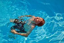 Free Child Has Fun In The Pool Stock Photo - 15993340