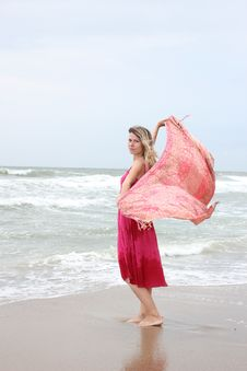 Woman Near The Sea Stock Image