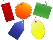 Free Multicolored Labels Set Stock Photo - 15994590