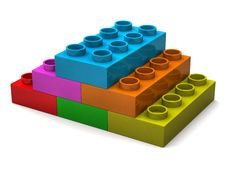 Free Pyramid From Toy Bricks Royalty Free Stock Images - 15995209