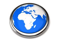 Free Globe Button Royalty Free Stock Photos - 15995258