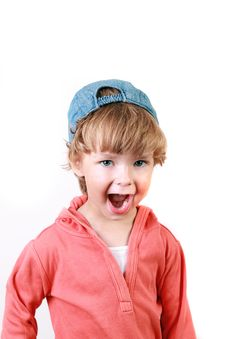 Free The Little Boy Which Shouts Royalty Free Stock Image - 15995376