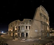 Free Panoramic Shoot Of Coliseum Stock Photos - 15995893