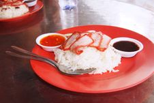 Free Chinese Street Food, Char Siew Rice Royalty Free Stock Images - 15996149