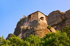 Free Meteora Monastery In Greece Royalty Free Stock Image - 15996656