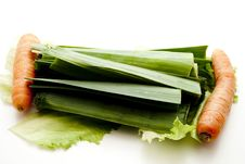 Free Leek With Carrot Royalty Free Stock Photos - 15997568