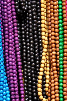 Free Necklaces On A Market Stall Stock Image - 15997571